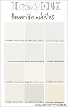 Tricks for Choosing Whites (Paint It Monday) The Creativity Exchange: Benjamin Moore Decorator's White