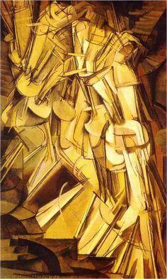 Nu descendo a escada nº 2, 1912 Marcel Duchamp (França, 1887-1968) Óleo sobre tela,   145 x  87 cm Museu de Arte da Filadélfia, EUA