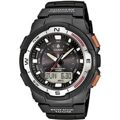 Casio Men s Twin Sensor World Time Compass Analog   Digital Chronograph  Watch - 5deba29624