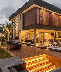 Most Popular Modern Dream House Exterior Design Ideas 19 - kindledecor Modern Minimalist House, Modern House Design, Home Design, Design Art, Minimalistic Kitchen, Modern Exterior House Designs, Design Logo, Design Homes, Minimalist Interior