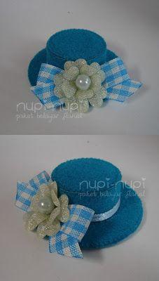 nupi-nupi: Recycled #3 : Tutup Botol Bekas Fabric Doll Pattern, Doll Sewing Patterns, Barbie Patterns, Fabric Dolls, Foam Sheet Crafts, Hat Crafts, Bottle Cap Crafts, Diy Hat, Diy Hair Bows