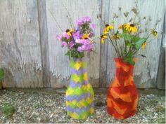 Kids Craft Blog by PlaidOnline.com - Mod Podged Vases