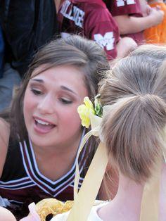 Autographs and cheerleader awe at Pumpkinpalooza's Downtown Pep Rally in 2011