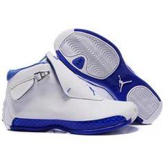 http://www.asneakers4u.com/ 305869 107 Air Jordan 18 Original OG White Women Sport Royal A24003