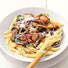 Pasta with Tomato-Mushroom Sauce | MyRecipes