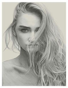 Gorgeous portrait drawing work by Kei Meguro
