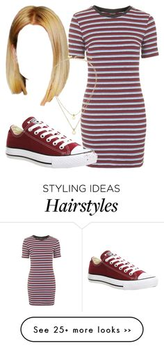 """""""Untitled #2178"""" by nicole-briffa on Polyvore featuring Topshop, Converse and Kate Spade"""