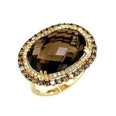 Ladies Diamond & Brown Diamond Ring