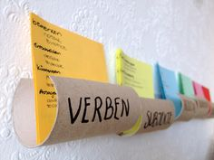 Toilet paper roll educational organizer #Cardboard, #DIY, #Organizer, #Repurposed, #Reused, #ToiletPaperRoll, #Upcycled