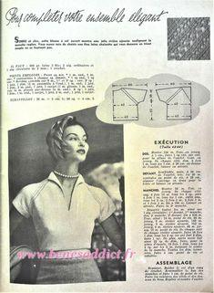 Vintage Knitting, Vintage Sewing Patterns, Knitting Patterns Free, Doll Patterns, Crochet Patterns, Patron Crochet, Knit Crochet, Pull Camionneur, Patron Vintage