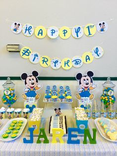 Baby Mickey Mouse party