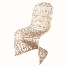 Willow Rattan Dining Chairs Set of 2 – Eclectic Goods