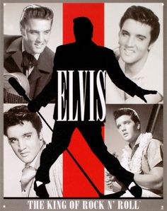 Elvis King of Rock n Roll Tin Sign at AllPosters.com