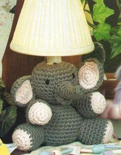 I LOVE this elephant..minus the lamp part  14M Crochet Pattern for Cute Elephant Night Light Beginner | eBay