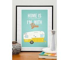 Restyle poster met caravan