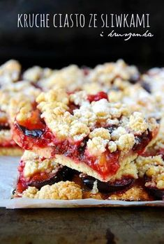 Plum Crumble, Polish Recipes, Polish Food, Sweet Tooth, Good Food, Food Porn, Food And Drink, Favorite Recipes, Baking