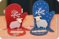 Masterat Clasa felicitare de Anul Nou aplicatiile Kirigami pop-up Crăciun mănușă de box card cu o fotografie secretă 15