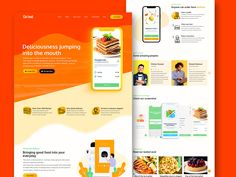 GoFood food delivery multipurpose app landing page by Sabbir Hasan App Ui Design, Interface Design, Web Design, App Landing Page, Landing Page Design, Engineering Memes, Show And Tell, Service Design, Mobile App