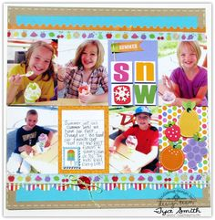 Fun summer layout by Tyra Smith using supplies from Doodlebug's Fruit Stand collection.