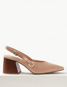 Shop this Pointed Toe Slingback Shoes at Marks & Spencer. Browse mny other at Marks & Spencer NZ Holiday Shoes, Slingback Shoes, Block Heels, Kitten Heels, Ankle, Lady, How To Wear, Collection, Fashion