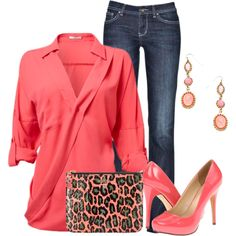 Coral Pink by ding1 on Polyvore