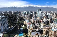 Aerial view of financial district at Santiago de Chile. Best Places To Travel, Places To Go, Amazing Destinations, Travel Destinations, Cities In South America, Latin America, Packing List For Travel, Travel Alone, Aerial View