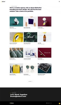 Showcase your creativity with Brünn, a stunning creative agency WordPress theme. Web Design Trends, Web Design Inspiration, Business Design, Creative Business, Simple Wordpress Themes, Portfolio Design, Creative Portfolio, Powerpoint Presentation Templates, Infographic Templates
