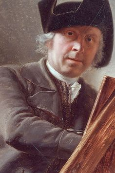 Léonard Defrance - Self-portrait, 1791, (1735-1805) was a scholar of J. B.- Coclers. He painted historical pieces of large and small dimensions, also landscapes, game, fruit, flowers, and architecture. Defrance was the first professor of design at the Academy of Liège, established by the Prince Velbruck, and afterwards filled the same post in the school of the central department of Ourthe Game Fruit, Roland Barthes, Chalk Pencil, Perfect Selfie, Fruit Flowers, Portrait Art, Art Studios, Love Art, Great Artists