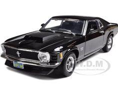 1970 MUSTANG BOSS 429 BLACK 1:18 DIECAST MODEL CAR BY MOTORMAX 73154 #Motormax #Ford
