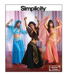 BELLY DANCER COSTUME Sexy Womens Costumes Designer Andrea Schewe Simplicity 2941 by DesignRewindFashions - Vintage & Modern Sewing Patterns on Etsy