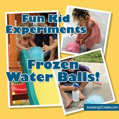 This is a great way to teach kids about what happens to water when you get it hot or cold. However, you'll want to make sure that your kids are old enough to know that chucking a large ball of … Continue reading →