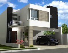 modelos de casas minimalistas pequeñas con balcon #cocinaspequeñasminimalistas