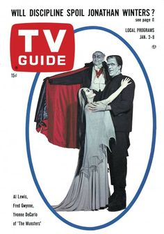 TV Guide January 2, 1965 (Al Lewis, Fred Gwynne, Yvonne DeCarlo of The Munsters)