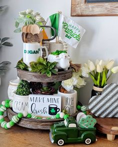 Patrick's Day Decor Ideas To Bring in All The Green and Luck of the Season - Hike n Dip Patrick's Day crafts DIY St. Patrick's Day Decor Ideas To Bring in All The Green and Luck of the Season - Hike n Dip Patricks day ideas diy Diy St Patricks Day Decor, St. Patricks Day, Saint Patricks, St Patrick's Day Crafts, Decor Crafts, Decor Diy, Irish Decor, St Patrick's Day Decorations, Tiered Stand