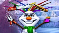 Em Olaf Cortes Malucos, Olaf quer ser estiloso, como todos os seus amigos e para isso ele conta com sua ajuda. Ajuda Olaf criar um penteado bonito e estiloso para ser o mais popular de todos. Divirta-se jogando com Frozen!