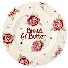 Personalised Rose & Bee 8 1/2 Plate - Emma Bridgewater