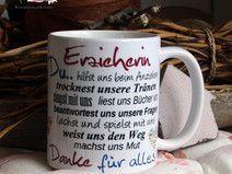 "Kaffeebecher ~ Tasse - ""Erzieherin"""