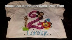 Jungle Birthday Shirt. by SouthernBlingBowtiqu on Etsy, $20.00