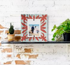Farmhouse Tile Home Decor Reclaimed Rustic Wood 4x6 Picture Frame | Coral Colored pattern over Turquoise washed wood | Wedding Gift #FarmhouseHomeDecor #FarmhouseWallDecor #ReclaimedWoodFrame #BabysFirst #BeachFrames #BarnwoodFrame #ReclaimedWood #PictureFrame #4x6Picture #ChristmasWallDecor Reclaimed Wood Frames, Barn Wood Frames, Rustic Wood, Boho Chic Living Room, Decor Home Living Room, Home Decor, Tile Patterns, Color Patterns, 4x6 Picture Frames