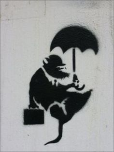 Staff at Abertay University in Dundee believe they have spotted some Banksy graffiti art in their car park. Banksy Rat, Banksy Work, Street Art Banksy, Banksy Graffiti, Graffiti Artwork, Bansky, Street Art Love, Street Artists, Urban Art