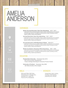"""Resume Cover Letter Template Word Unique Resume Template the """"sara"""" Resume Cover Letter Template, Letter Template Word, Best Resume Template, Word Template Design, Free Resume, Sample Resume, Resume Ideas, Cv Template, Resume Examples"""