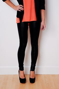This liquid leggings are a MUST HAVE! Get them at a modernboutique.com before they are gone! #leggings #fashion