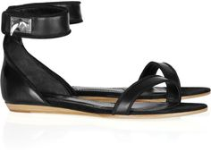 Givenchy Embellished Leather and Suede Sandals