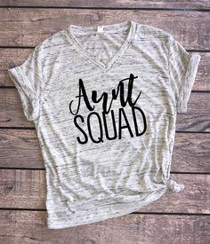 Aunt Squad   Unisex t-shirt, aunt squad shirt, aunt squad tank, aunt shirt, new auntie, pregnancy reveal, pregnancy announcement, BAE shirt, best auntie ever, aunt gift