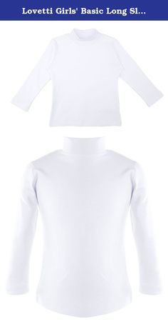 Lovetti Girls' Basic Long Sleeve Mock Turtleneck Cotton T-Shirt 6 White. Product Features: Available colors; black, navy, red, white, gray, yellow Lovetti girls basic mock turtleneck t-shirts are made of super soft and high- quality fabric Girls long sleeve mock turtleneck warm, soft and comfortable tee for everday wear. Keeps you super cozy and warm Material: 100% Cotton None see through. Machine wash .
