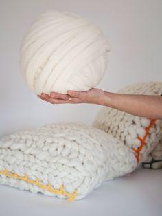 Chunky pillows