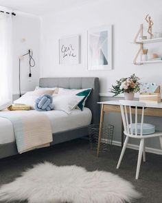 11 Teen Bedroom Ideas You And Your Kids Will Both Love 10 Best Teen Bedroom Ideas – Cool Teenage Room Decor for Girls and Boys Lately; Decorilla's İnnovative Design Professional; Small Room Bedroom, Cozy Bedroom, Trendy Bedroom, Bedroom Storage, Bedroom Colors, Home Decor Bedroom, Modern Bedroom, Bedroom Furniture, Bed Room