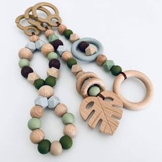 Baby Diy Projects, Baby Crafts, Baby Toys, Kids Toys, Kids Headbands, Play Gym, Baby Learning, Sensory Toys, Wooden Rings