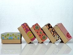 Wedding favor box,Packaging box, Bridesmaid Gift box -10 assorted Indian print and Gold , Jewelry Packaging Boxes