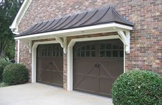 Porticos can transform a flat fronted house with little effort. A front door overhang creates contrast & depth while providing protection from the elements.